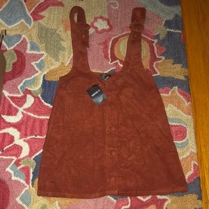Forever 21 mini overall dress size m.